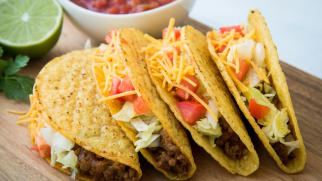 Turn your taco on its side for ultimate pleasure. Source: iStock