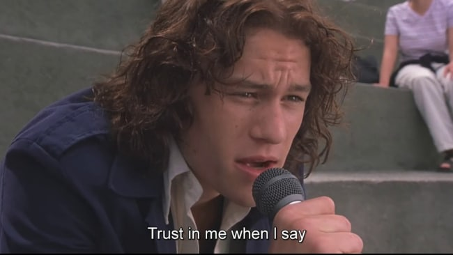 I love you, Heathy. Image: '10 Things I Hate About You'