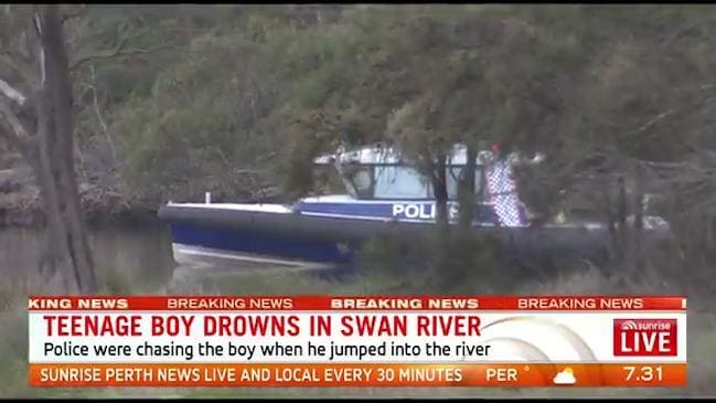 Teenager drowns in Swan River after being chased by police