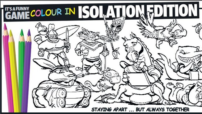 It's a Funny Game: Colour-In Isolation Edition. By Scott 'Boo' Bailey.
