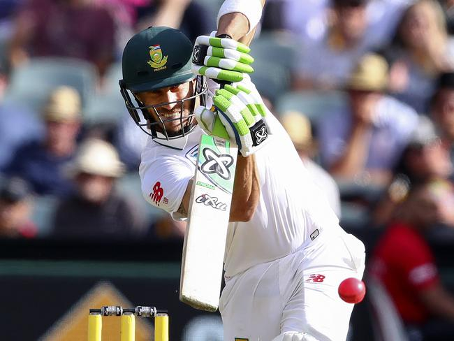 Du Plessis' innings was practically chanceless.