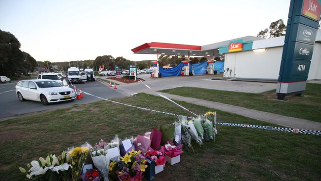 The service station where the 29-year-old was murdered while at work. Picture: Kym Smith