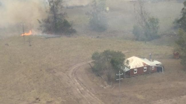 Slim Dusty's boyhood home on Nulla Nulla Creek Road, 50km west of Kempsey, has been saved. Picture: NSWRFS