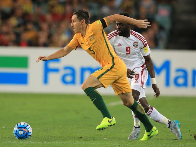 Mark Milligan of the Socceroos. Pic: Mark Evans
