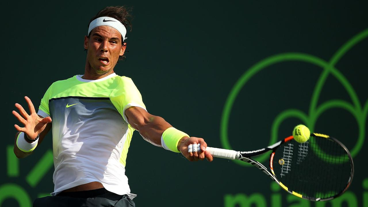 Rafael Nadal Loses His Mind Over A Water Bottle At Miami Tournament Daily Telegraph