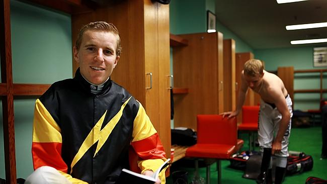 Nathan Berry in the jockeys' room at Warwick Farm.