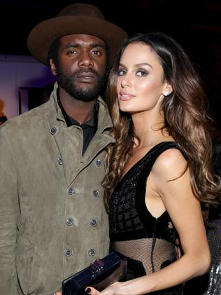 Gary Clark Jr. and Nicole Trunfio at the Warner Music after-party. Picture: Getty