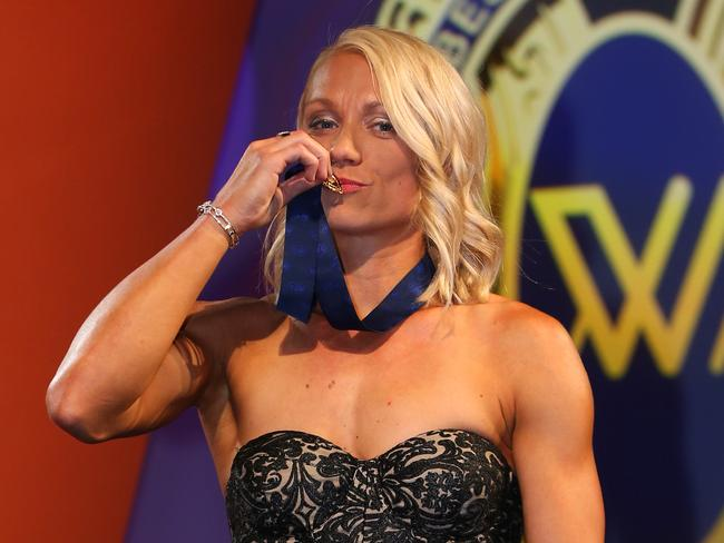Inaugural AFLW best and fairest winner Erin Phillips.