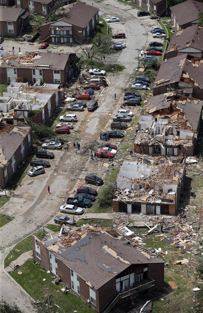 "This aerial image shows severe storm damage in Jefferson City. Picture"" AP"
