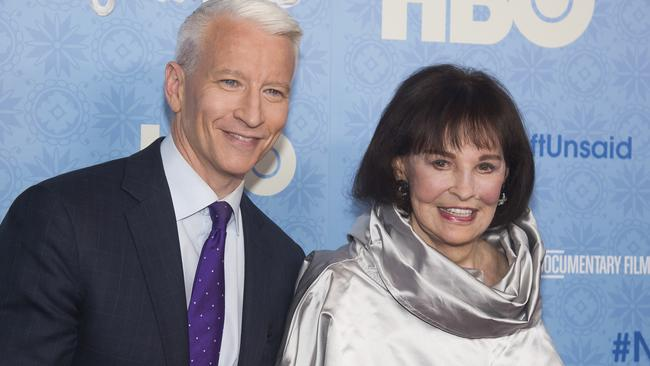 CNN anchor Anderson Cooper previously said he did not expect to inherit his mother's fortune. Picture: Charles Sykes/Invision/AP