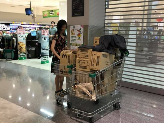 Woolworths says the boxes were empty. Picture: Jason Wu/Facebook