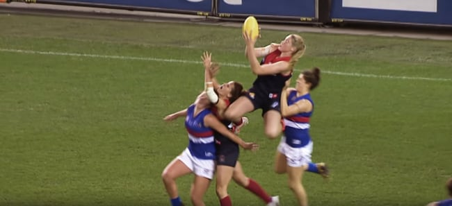 New AFLW commerical isn't short of highlights.