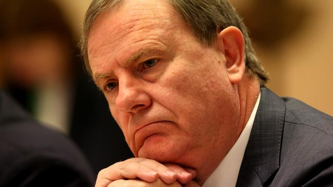 Less than impressed ... Peter Costello.