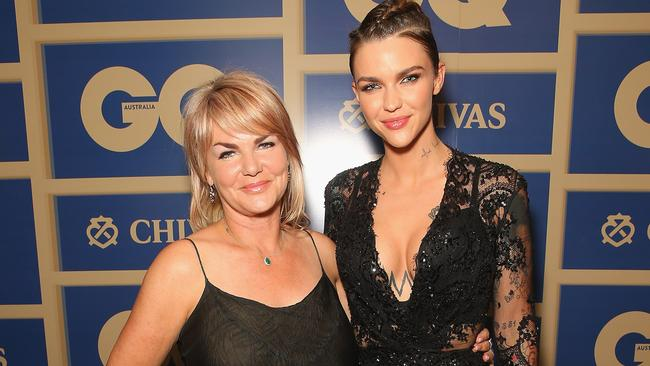 On her last visit home, Rose attended the GQ Awards with her mum, Katia.
