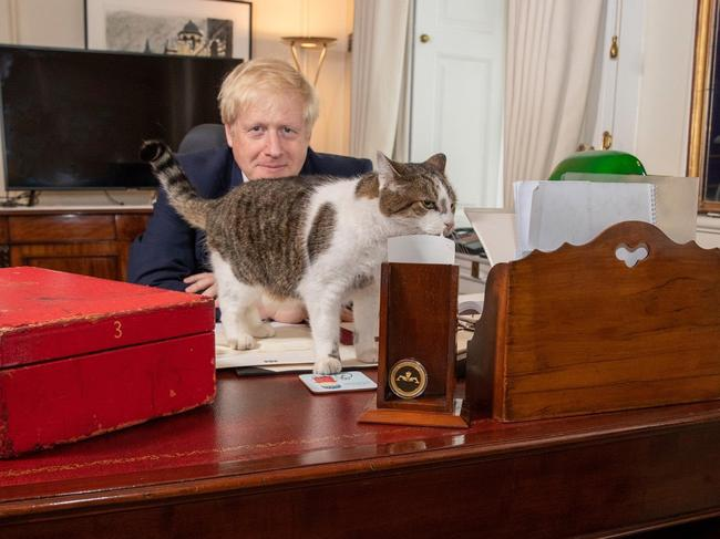 One of Boris Johnson's first acts was to publicly signal his affection for Larry.