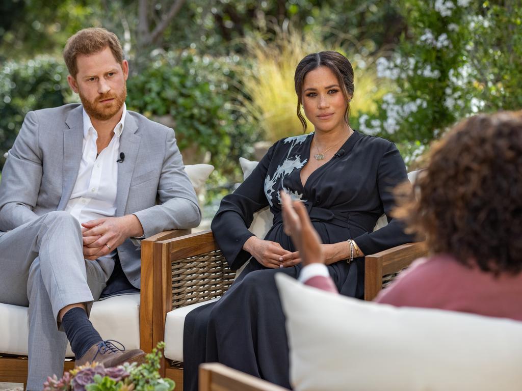 Oprah Winfrey interviewed Prince Harry and Meghan Markle.
