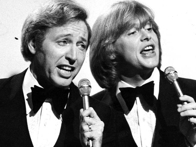 Jimmy Hannan with a young John Farnham in 1979. Picture: ABC