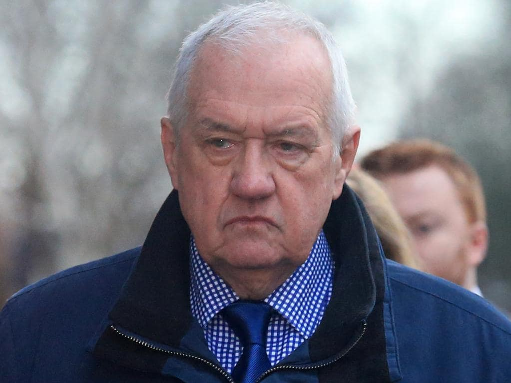 David Duckenfield, match-day police commander at the Hillsborough football stadium disaster arrives at court in Preston, northwest England to face trial over the deaths of 95 Liverpool supporters, 30 years on from the tragedy on January 14, 2019. (Photo by Lindsey PARNABY / AFP)