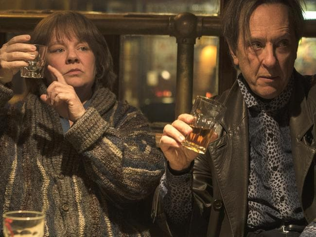 Melissa McCarthy and Richard E. Grant in Can You Ever Forgive Me? Picture: AP
