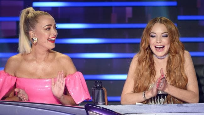 Lindsay Lohan pretending she knew who the celebrities were on The Masked Singer was one of the highlights of the show. Picture: Supplied