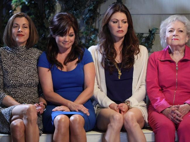 Hot in Cleavland starred (L-R) Wendie Malick, Valerie Bertinelli, Jane Leeves and Betty White. Picture: Channel Nine.