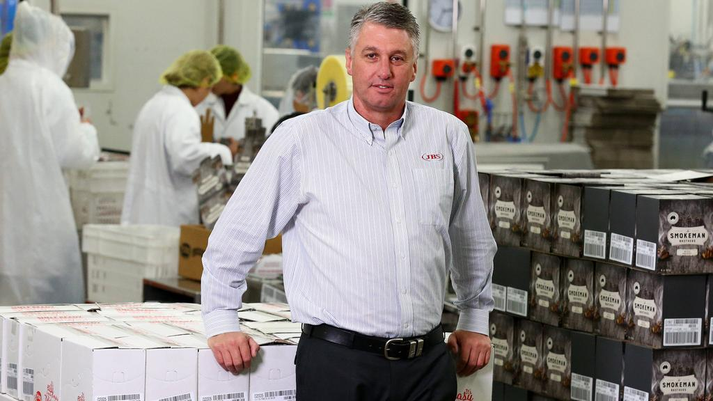 JBS Australia CEO Brent Eastwood runs one of the biggest meatworks/pressed meats companies in the world. He supports company tax cuts to keep people in jobs. Picture: Adam Head