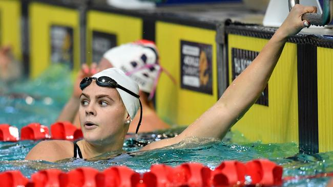 Australian swimmer Shayna Jack is seen after her heat of the Women's 200 metre Freestyle at the World Swimming Trials at the Brisbane Aquatic Centre last month. Picture: AAP