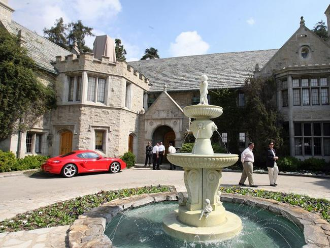 Hugh Hefner's Playboy Mansion is extravagant. Picture: AFP