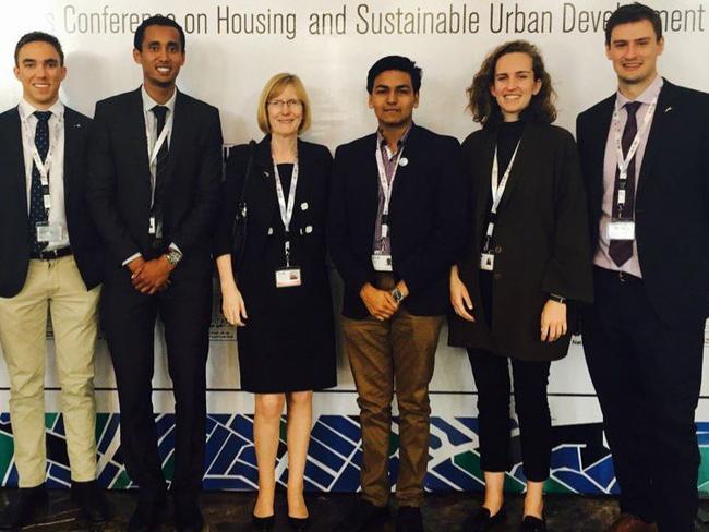 Julian Simpson, far right, Australian diplomat. Picture: Supplied