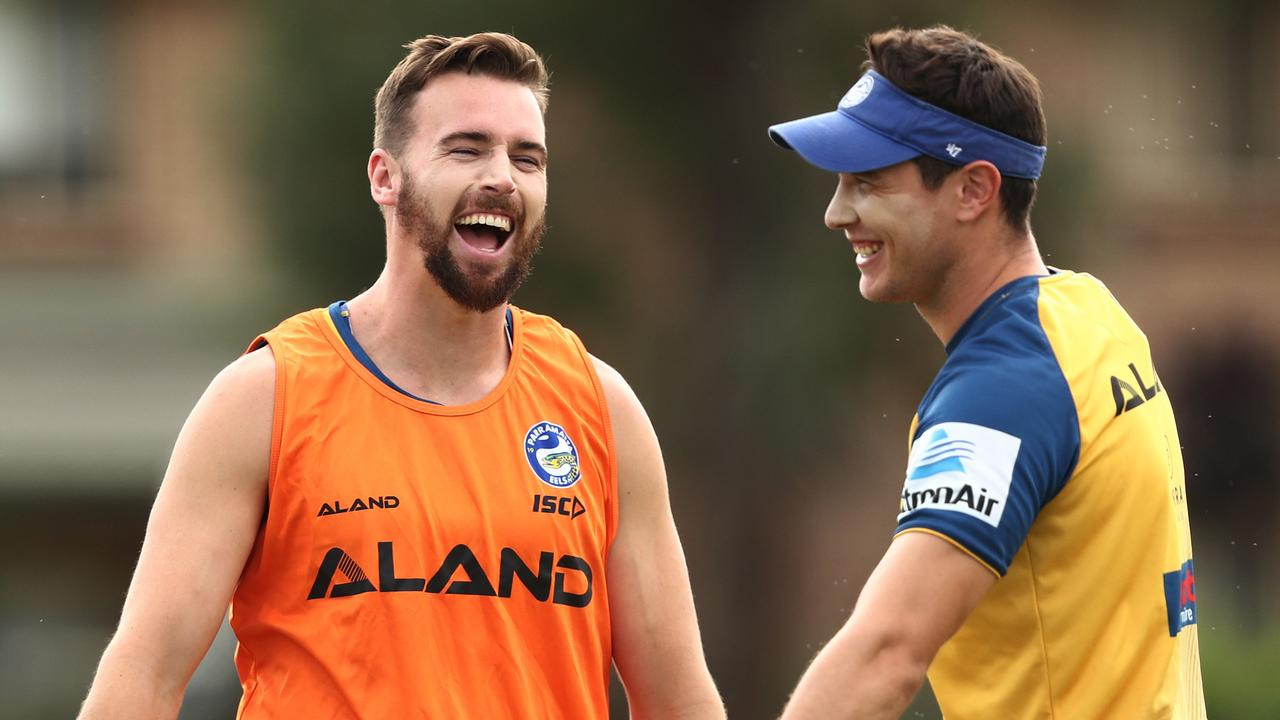 Clint Gutherson and Mitch Moses are priority in Eels' retention plans. Picture. Phil Hillyard