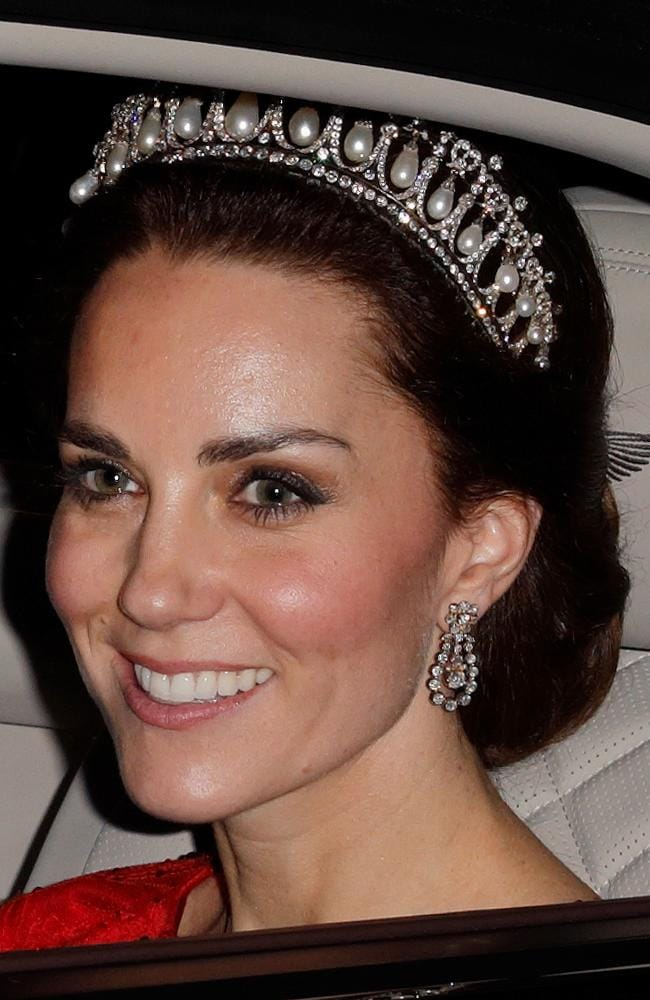Since her wedding Kate has only worn tiaras on a handful of occasions. Picture: Max Mumby