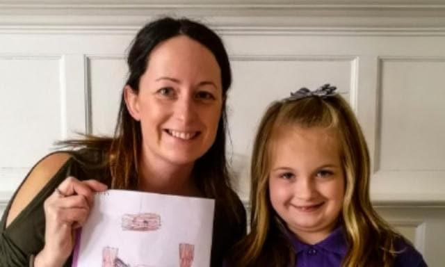 Mum 'mortified' after daughter drew picture of her hungover at school