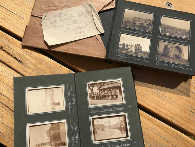 The photo albums are beautifully preserved, and tell the story of Jack's final years.