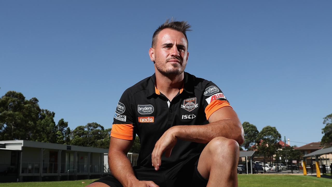 Wests Tigers Josh Reynolds at St Charles Primary School, Ryde. Picture: Brett Costello