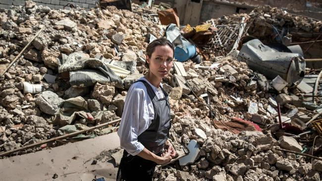 Angelina Jolie recently visited the Old City in western Mosul during a visit to Iraq on June 16.