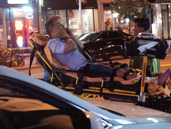 A girl and teenager died and 13 people were injured after a gunman opened fire in Toronto's Greektown on Sunday evening. Picture: ZUMAPRESS.com / MEGA TheMegaAgency.com