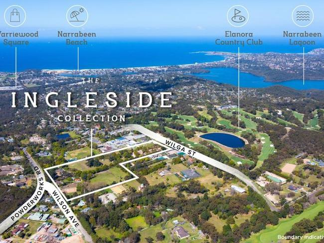 The Sunland land called The Ingleside Collection, which is currently for sale.