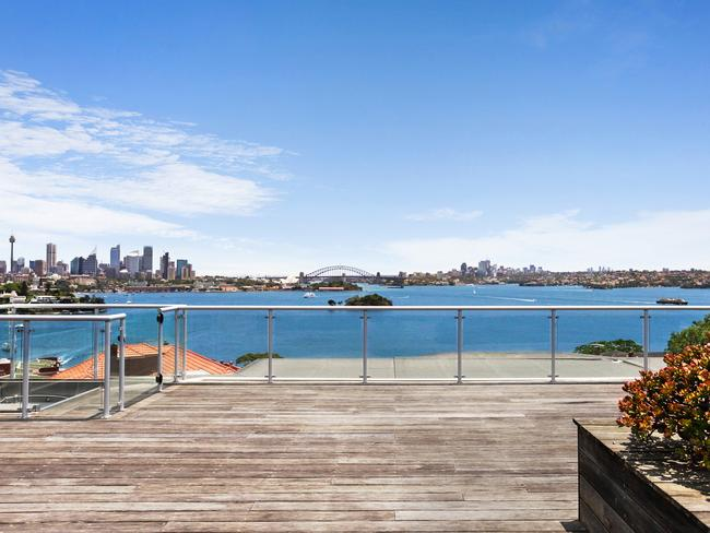 The rooftop deck belongs to the owners of the penthouse.