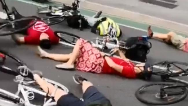 'Die-in' Staged in Protest of Road Safety for Brisbane Cyclists