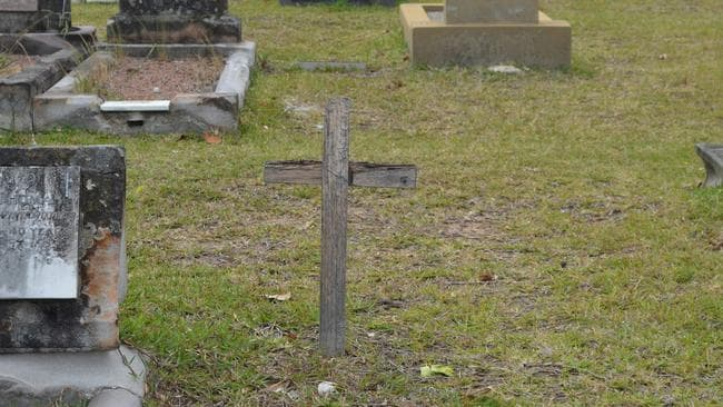 A pauper's grave in Rookwood Cemetery.