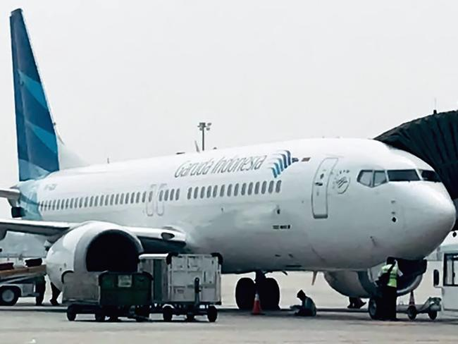 This picture taken on May 15, 2018 shows a Garuda Indonesia Boeing 737 Max 8 at Jakarta International airport in Jakarta. Picture: AFP