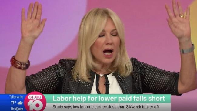 Studio 10 co-host Kerri-Anne Kennerley has unleashed on Labor leader Bill Shorten.