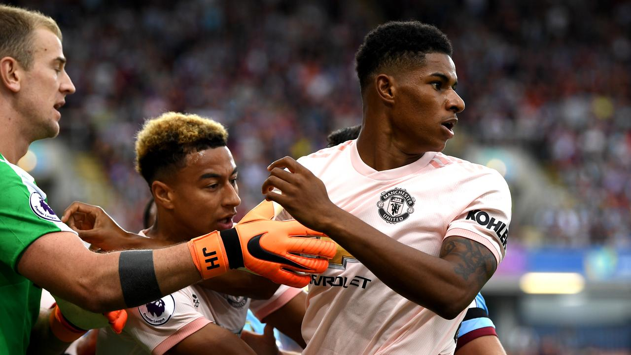 Rashford saw red for the first time in his career.