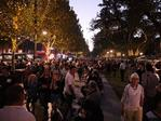 Crowds at the Adelaide Fringe parade. AAP Image/MATT LOXTON