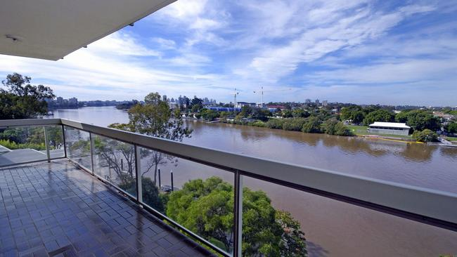 The view from one of the apartments in Edgewater at Toowong.