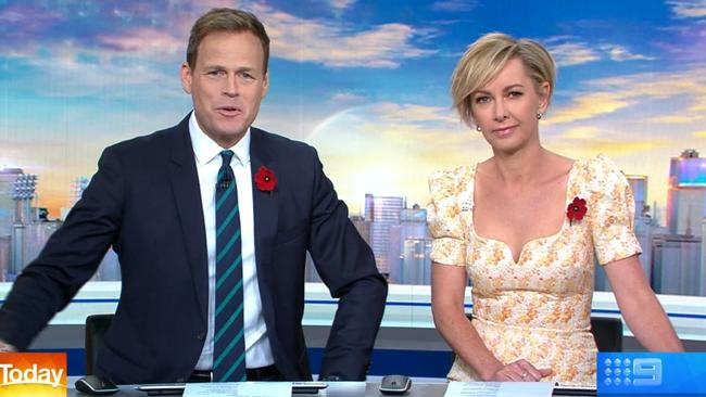 Today's Tom Steinfort and Deb Knight wished Georgie Gardner well this morning.
