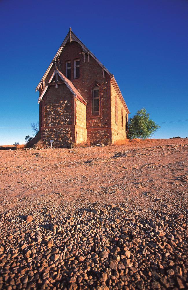 A disused stone church at Silverton. Picture: Broken Hill Visitor Information Centre