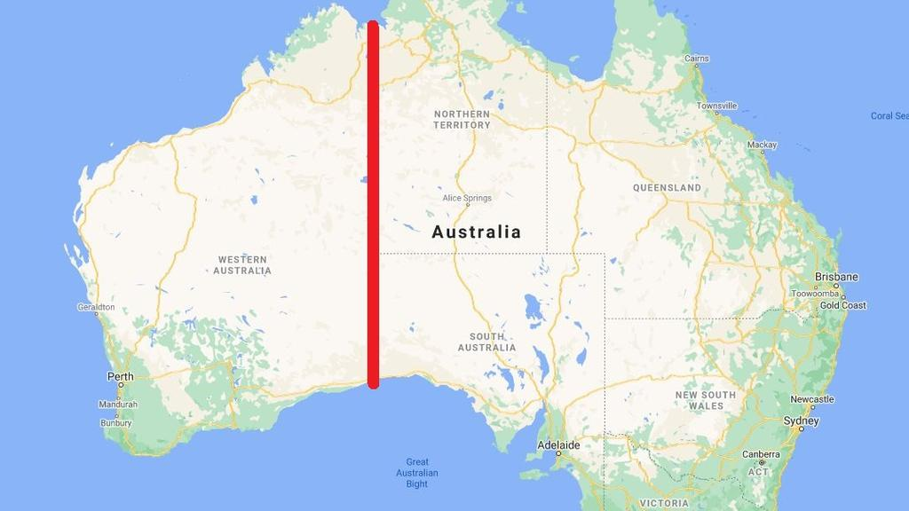 The plan would essentially split Australia into two nations. Picture: Google Maps