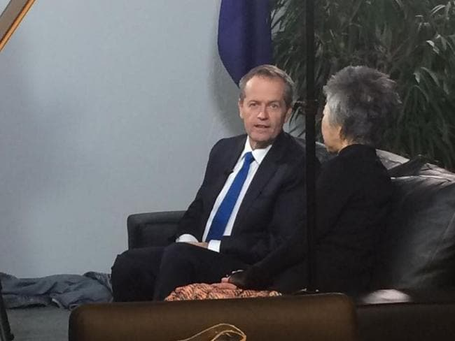 "Bill Shorten posted this picture to Instagram with the caption ""my toughest interview yet"". Picture: Instagram"