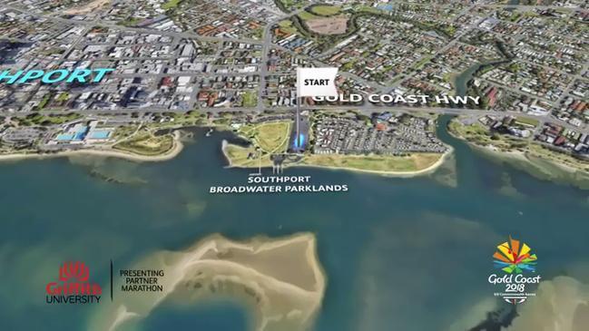 Gold Coast Commonwealth Games marathon route
